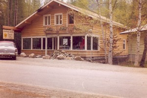 The Montana House Regional Gift Shop opened in Apgar Village on Mother's Day 1960. This is what it looked like brand new.